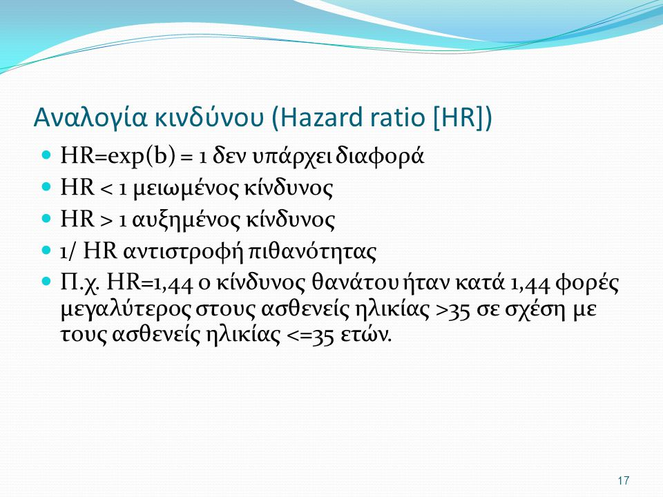 Αναλογία κινδύνου (Hazard ratio [HR])